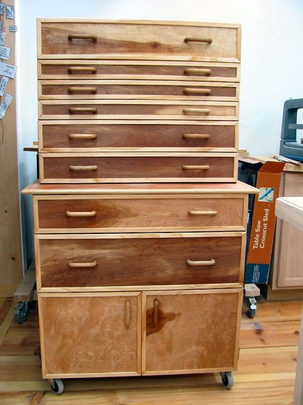 Built This Tool Cabinet For The Shop Wood Tool Box Wood Tools