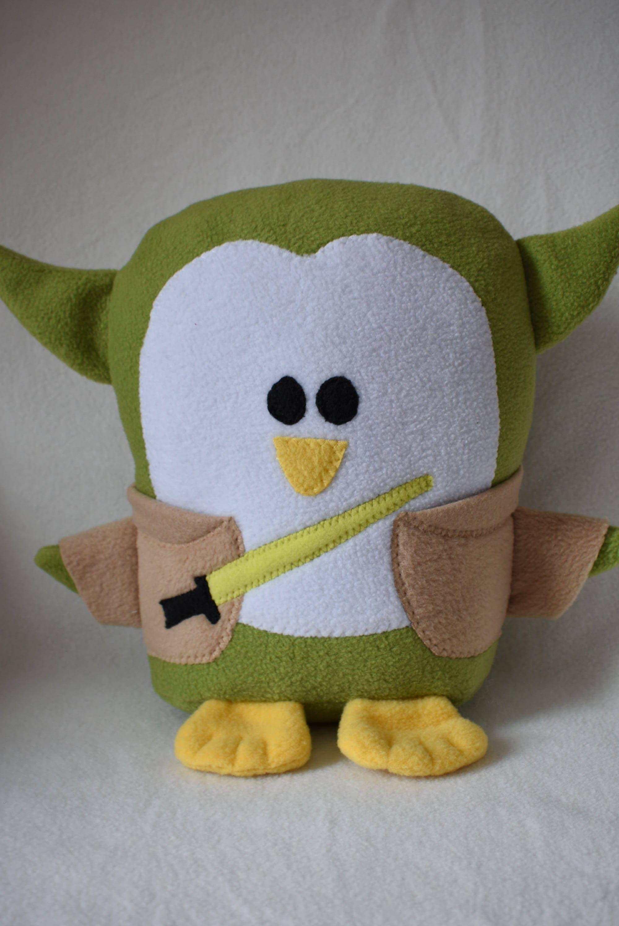 Plush Yoda Penguin Pillow, Baby Safe, Machine Wash and Dry