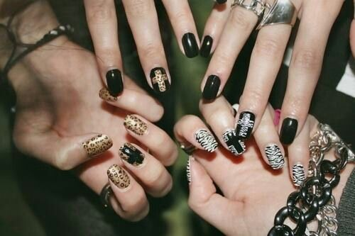 Cross Leopard Nails Nail Art Pinterest Leopard Nails