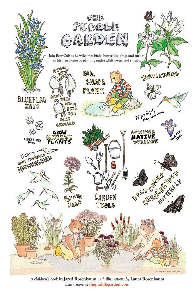 The Puddle Garden Poster Grandma Book