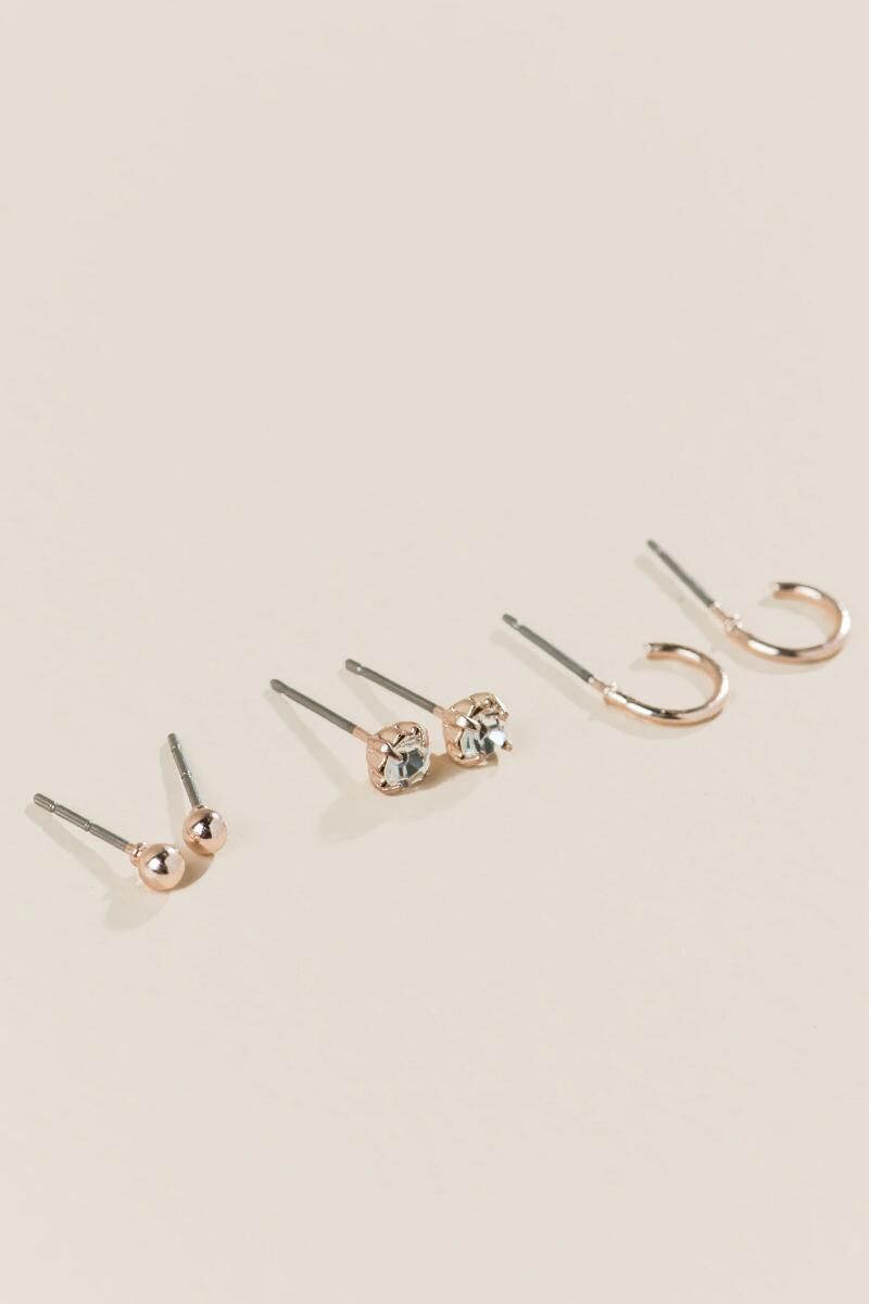 32ee28ee Sanchia Stud Earring Set In Rose Gold | Jewelry | Earrings, Women's ...