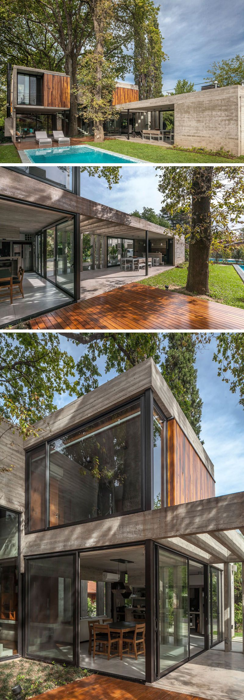 Besonias Almeida Arquitectos Have Designed A New Concrete And Wood ...