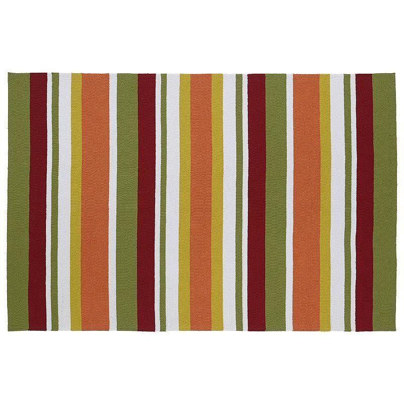 Kaleen Matira Stripes Indoor Outdoor Rug,
