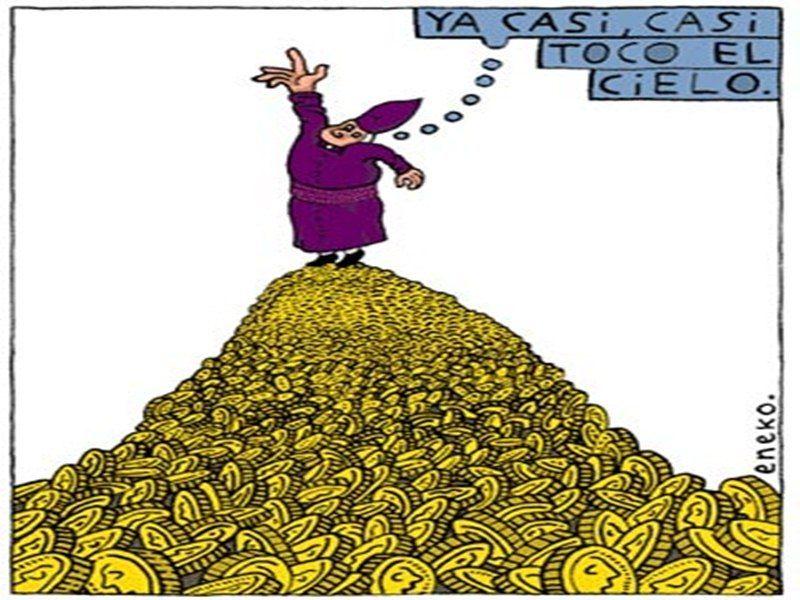 Image result for DINERO Y RELIGIONES cartoon