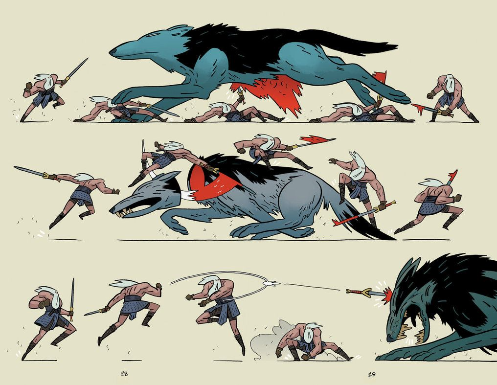 Character Design Quarterly 2 Pdf : Head lopper 2 spread by andrew ross maclean on deviantart