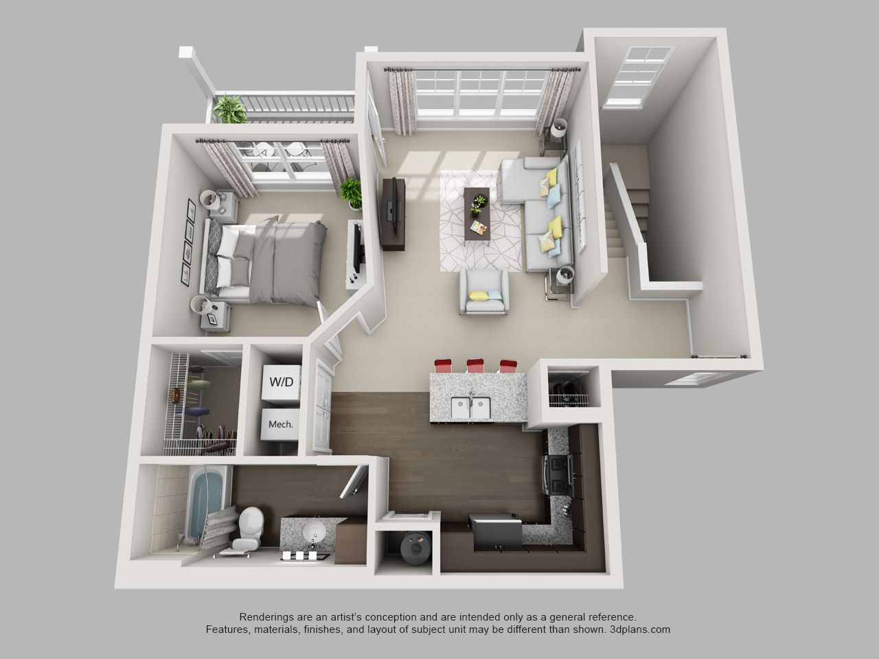 B3 Floor Plan 1 Bedroom 1 Bathroom House Plans Mansion Apartment Layout Sims House Design