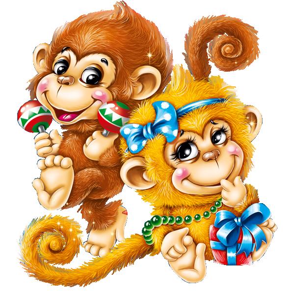 картинки мультяшных обезьянок к новому году елене надет легкий