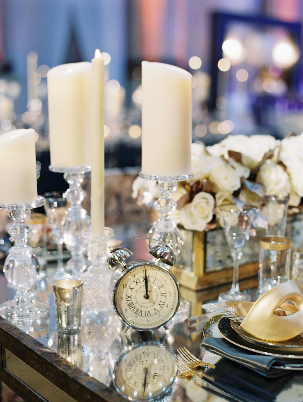 New Years Eve Wedding Tablescape. Event Planning by Lauryn