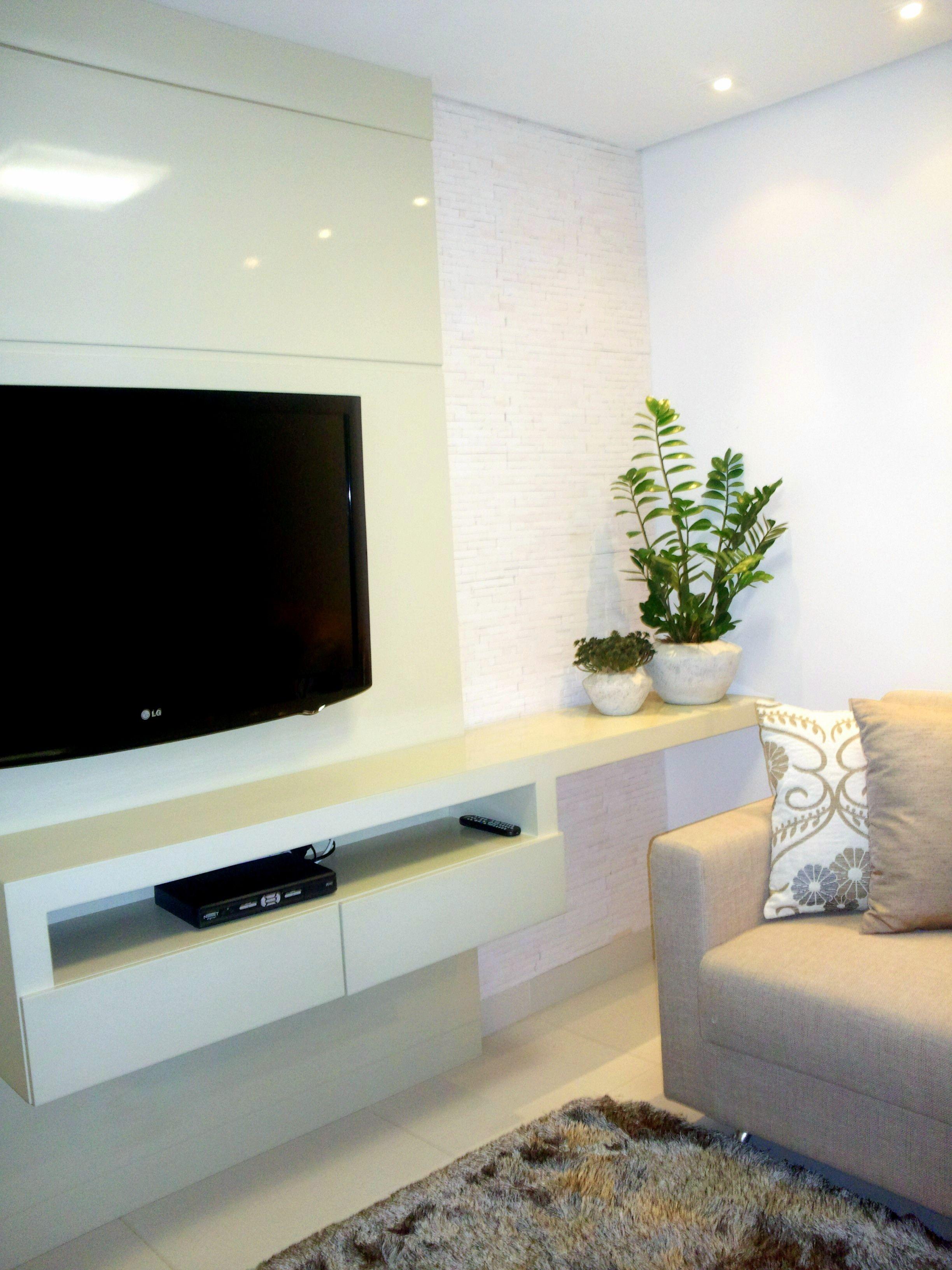 painel tv sala estar House decor en 2019 Tv decor, Tv rack y Decor # Decoração De Sala De Estar Com Painel De Tv
