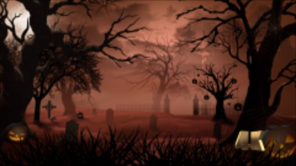 Halloween Graveyard Background Loop 4K #4K, #Abstract - halloween backdrop