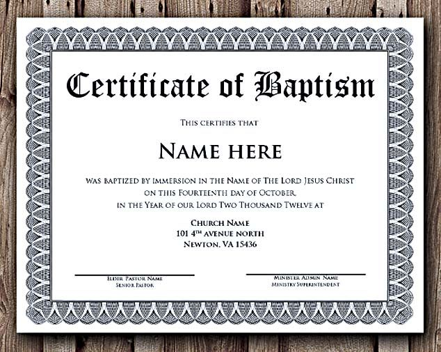 Lovely Baptism Certificate Word Editable Template , Selecting Certificate Template  Word Online For DIY Certificate Printing , With Certificate In Word