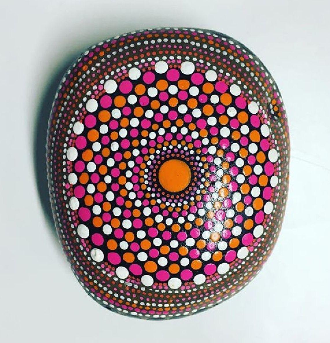 pinjane ward on dot painting  dot painting painting