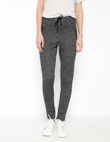 Bershka skinny jogging pants - Woman - Bershka United Kingdom ... 17ab3b074df