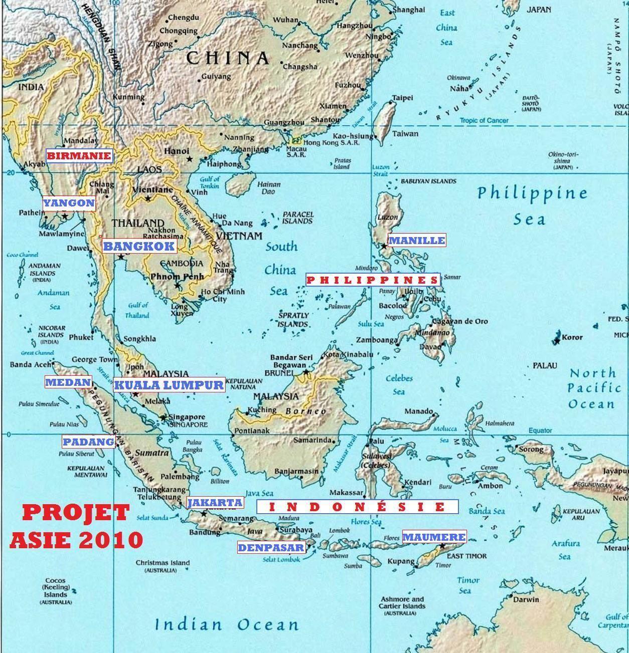 asie du sud est | cartes géographiques | Pinterest