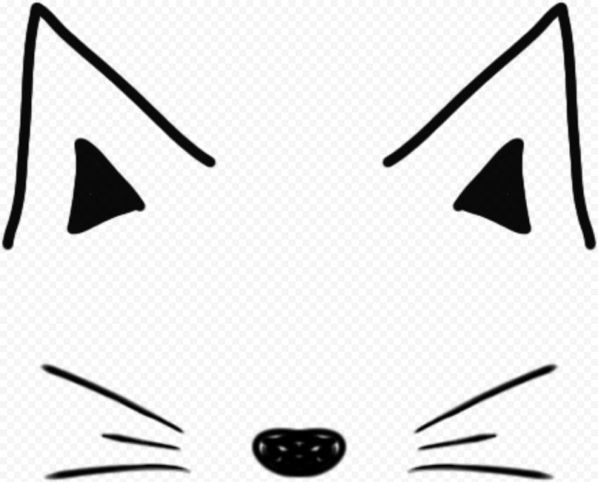 Cat Heart Nose Sticker By Danaandthebooks Cute Stickers Stickers Printable Stickers