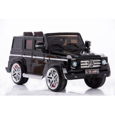 Premium Licensed Mercedes Benz G55 Kids Ride On Jeep Doors Music Lights Remote Walmart Com Kids Ride On Mercedes Power Wheels Car
