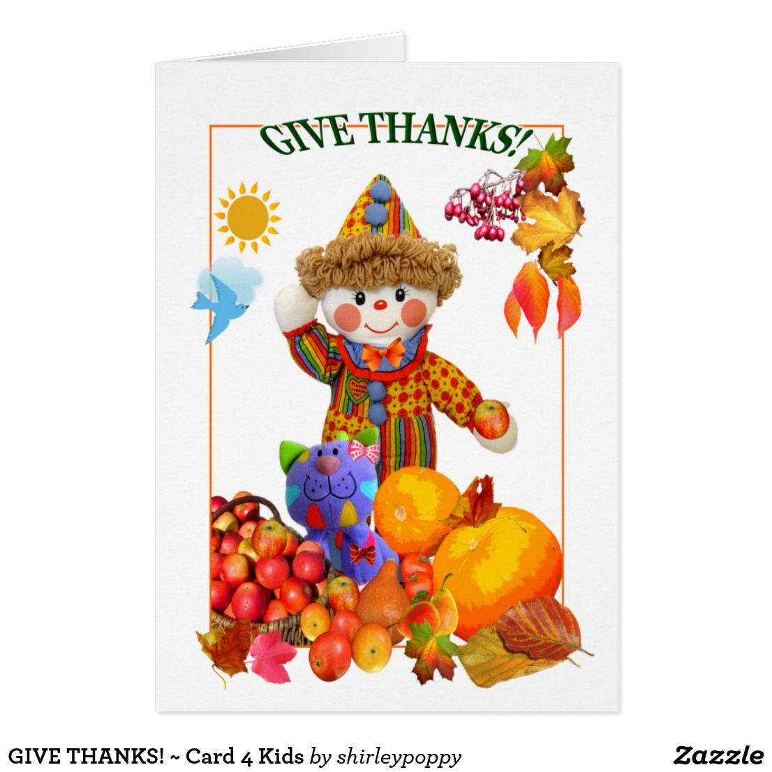Give thanks card 4 kids custom thanksgiving greetings cards thanksgiving greeting give thanks card 4 kids kristyandbryce Image collections