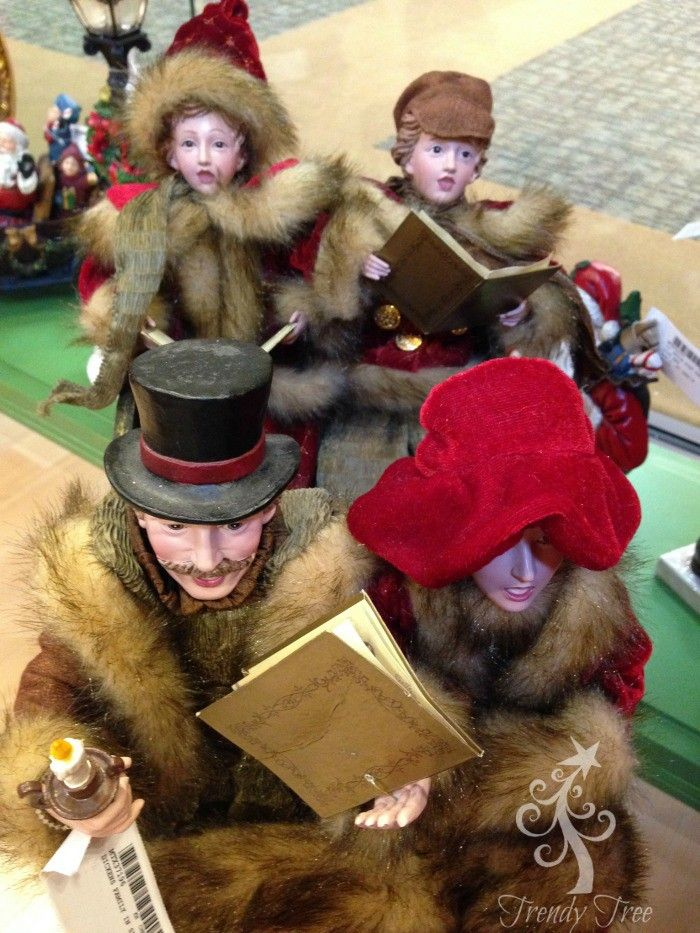 """Dickens Caroler Family in Sleigh Size 21"""" This item is on"""