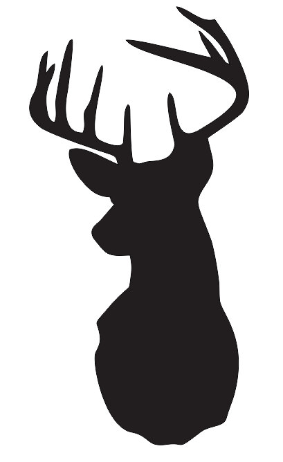 DeerStag Head Stencil Pick A Size Between  For Painting Signs