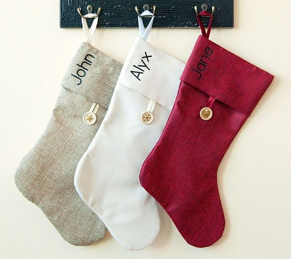 Christmas Stocking Trio Made With Cricut Iron On And