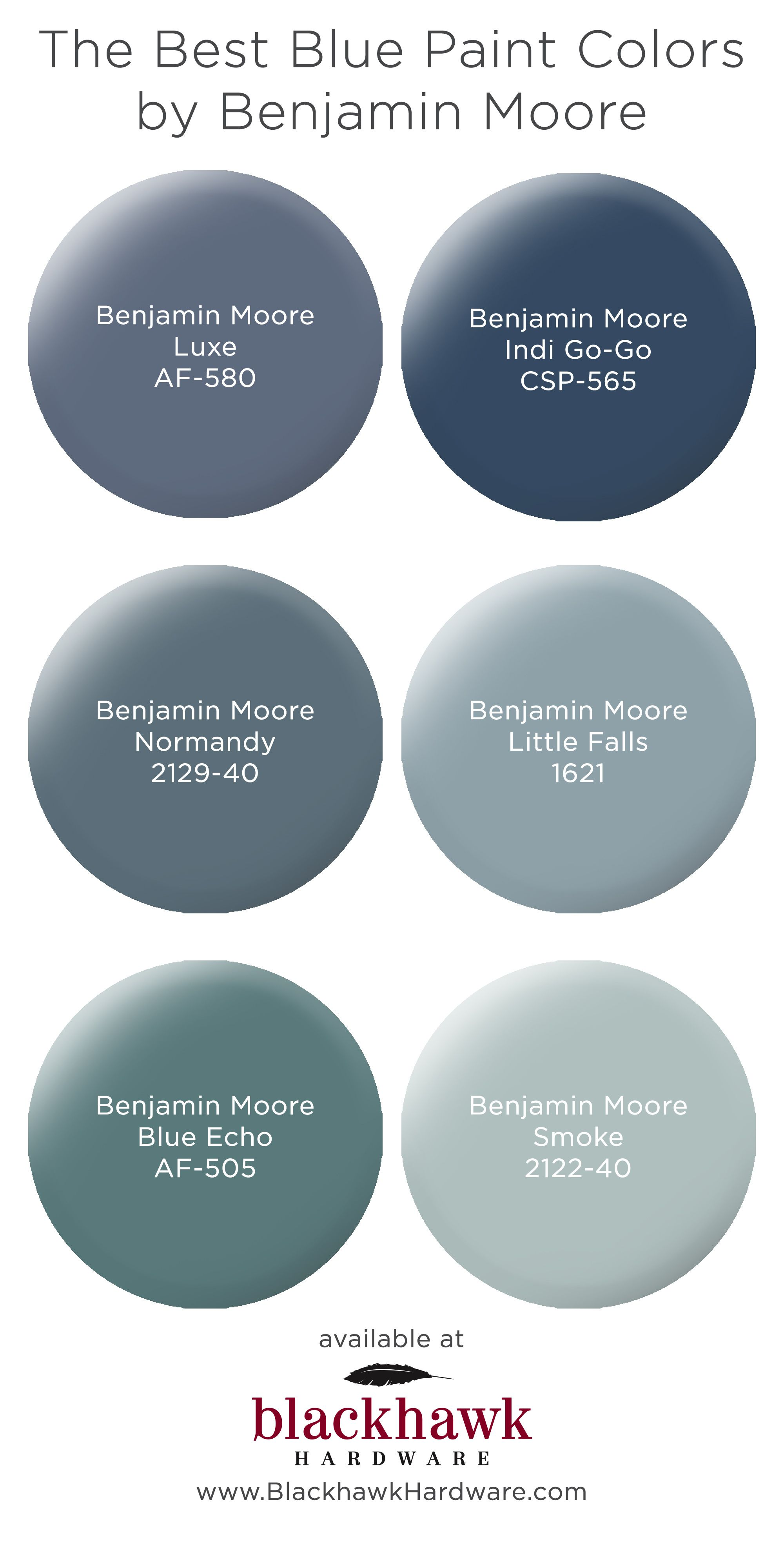Our Favorite Blue Bedroom Paint Colors by Benjamin Moore | Best gray paint, Paint colors for home, Grey paint colors