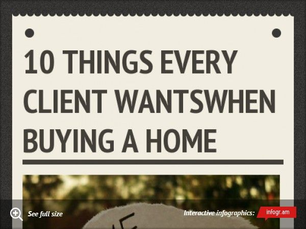 10 Things Every Client Wants When Buying a Home