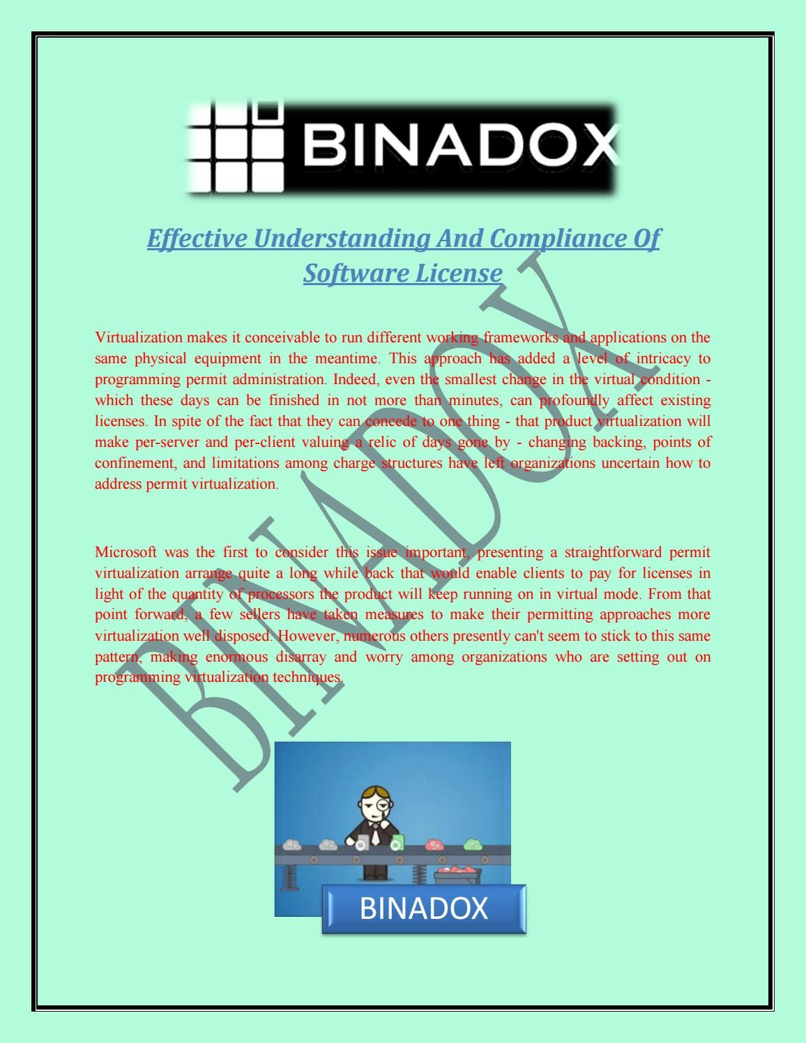 Effective understanding and compliance of software license