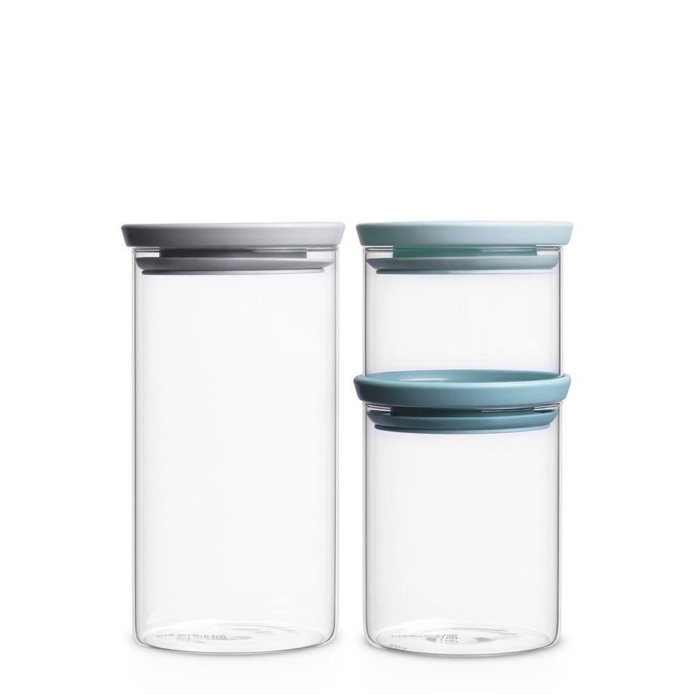 Brabantia Stackable Glass Jar. foodstorage containers