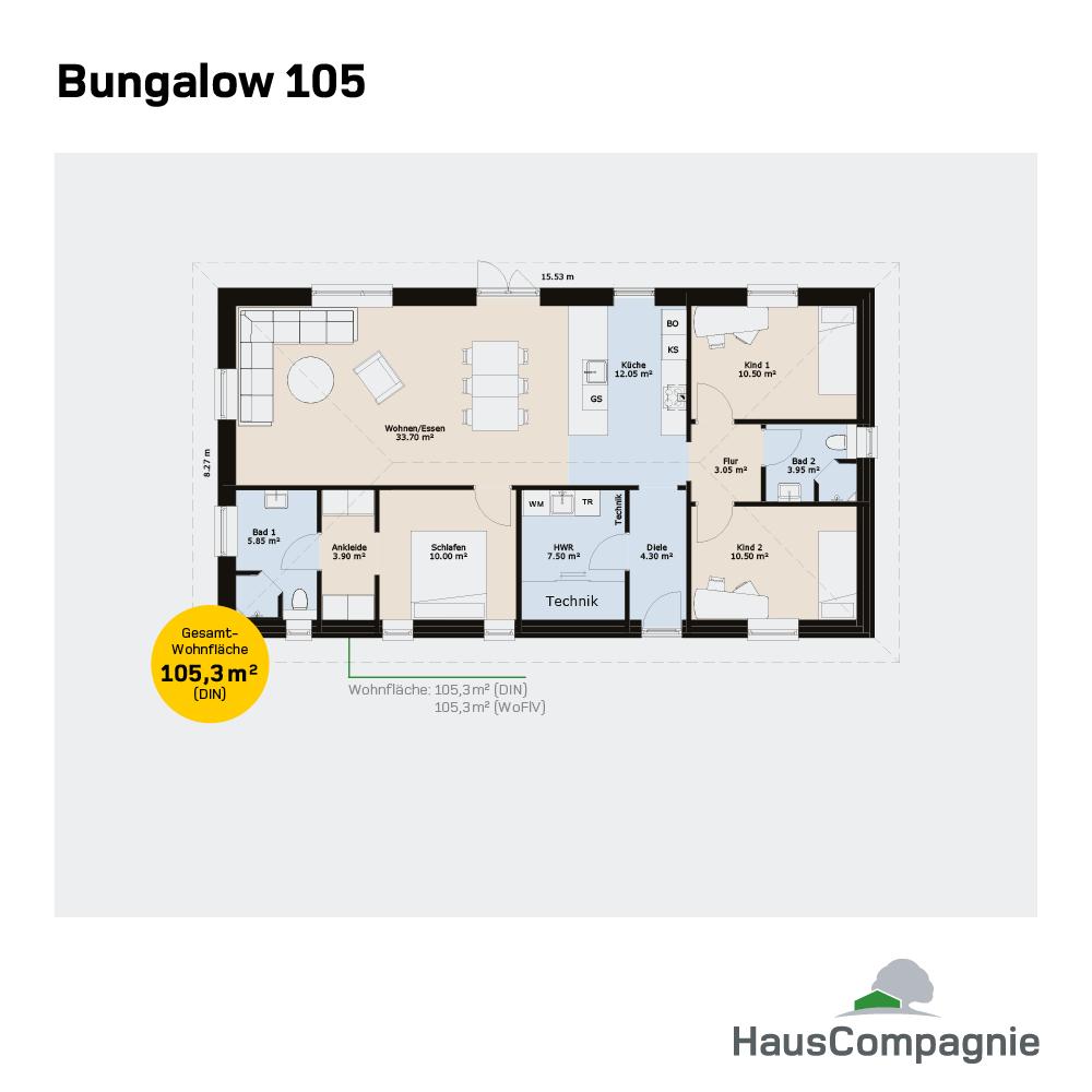Bungalow Grundrisse Bungalow bauen mit (mit Bildern