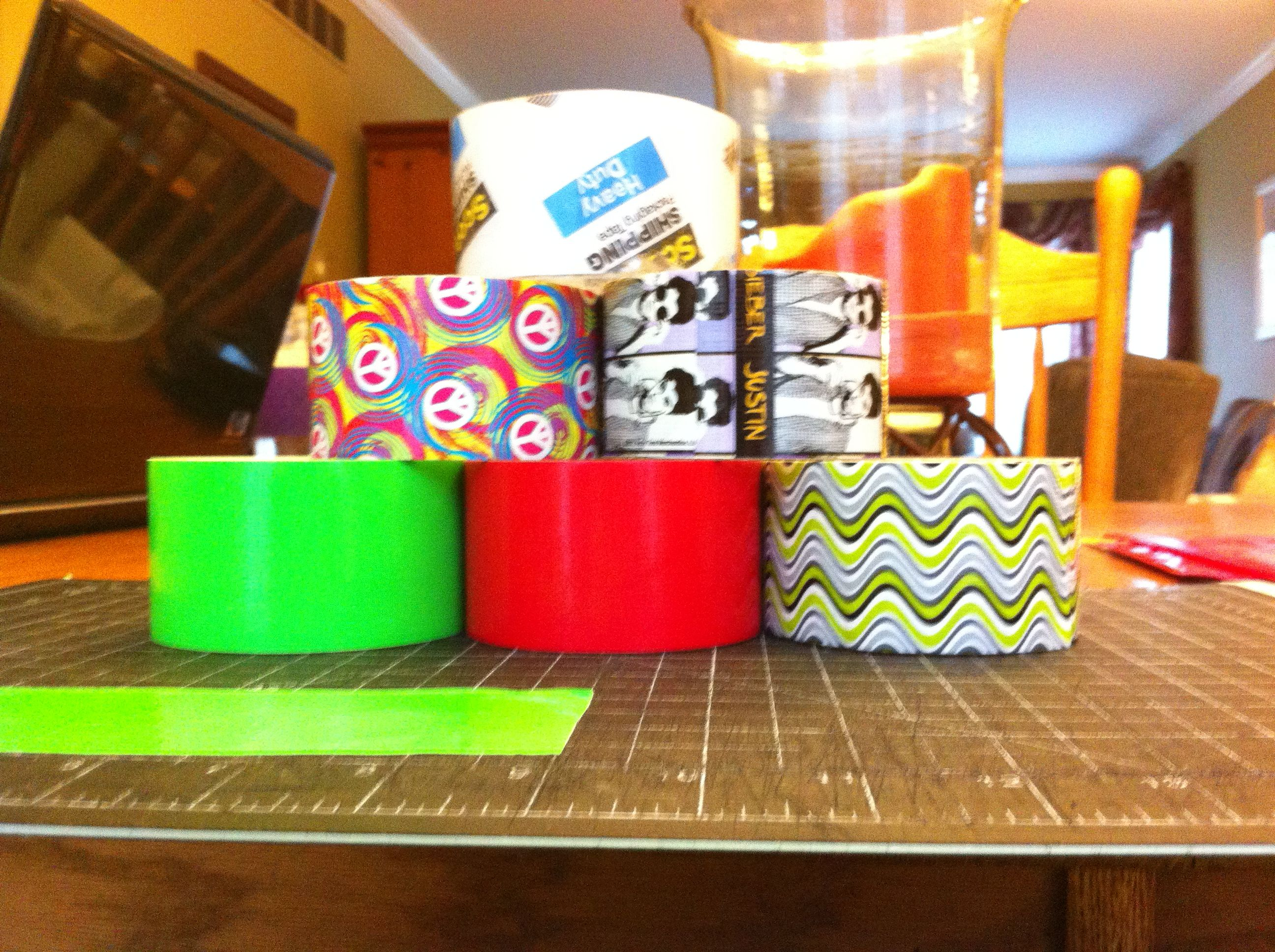 All my duck tape