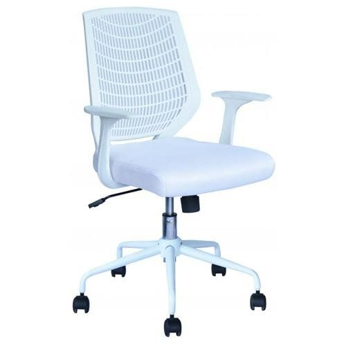 white ergonomic mesh computer office desk task midback task chair
