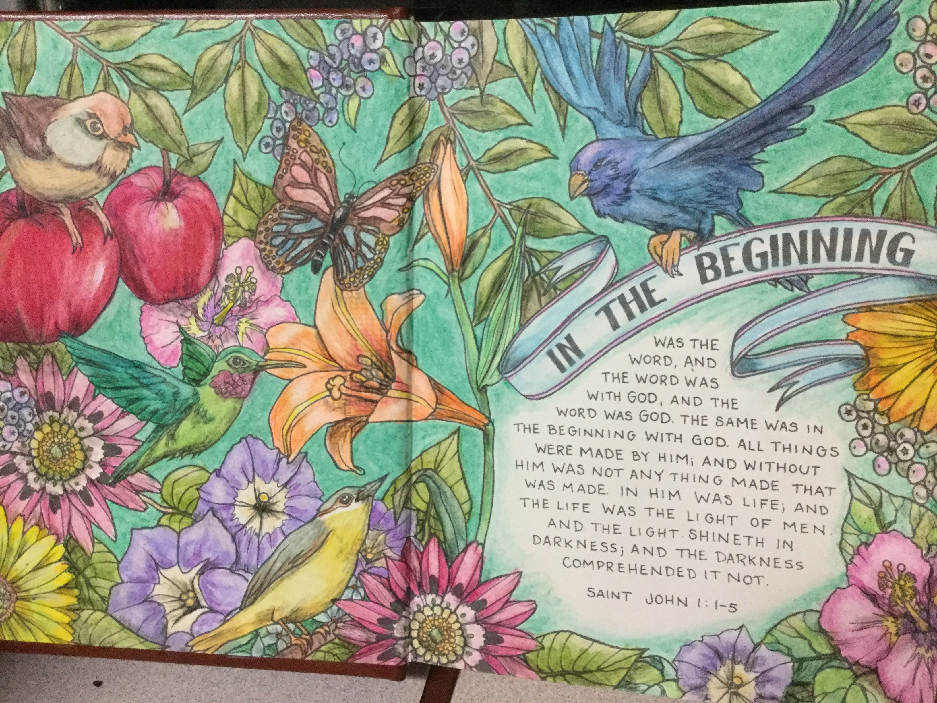 My Creative Bible Kjv Using Watercolor Wonder And Colored Pencils