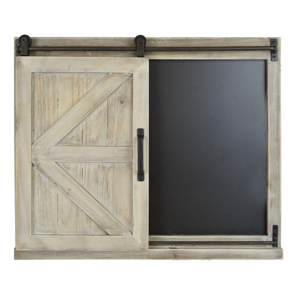 Belle Maison Barn Door Chalkboard Wall Decor Garage Door Design
