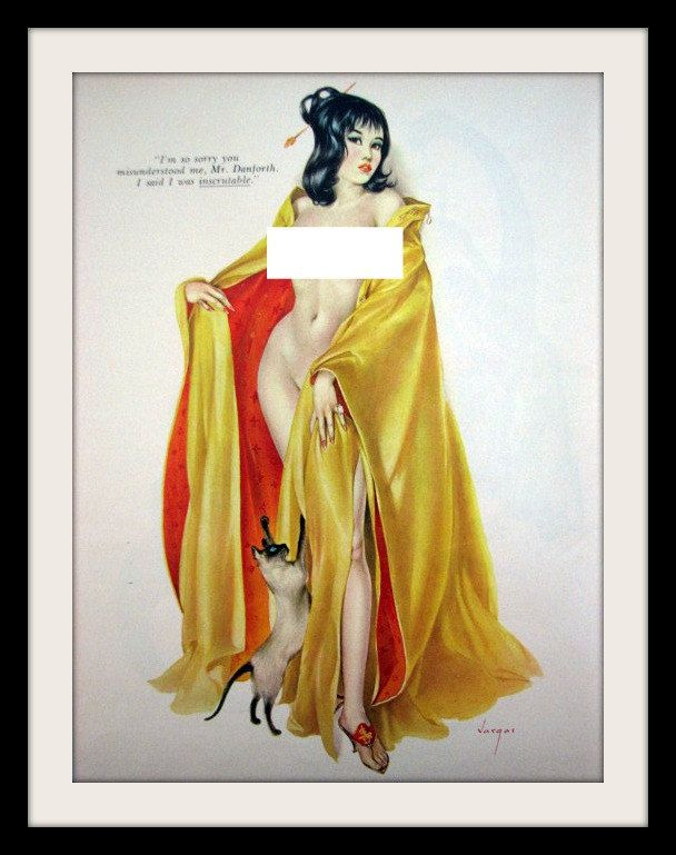 VARGAS Girl Vintage Pinup Art, \