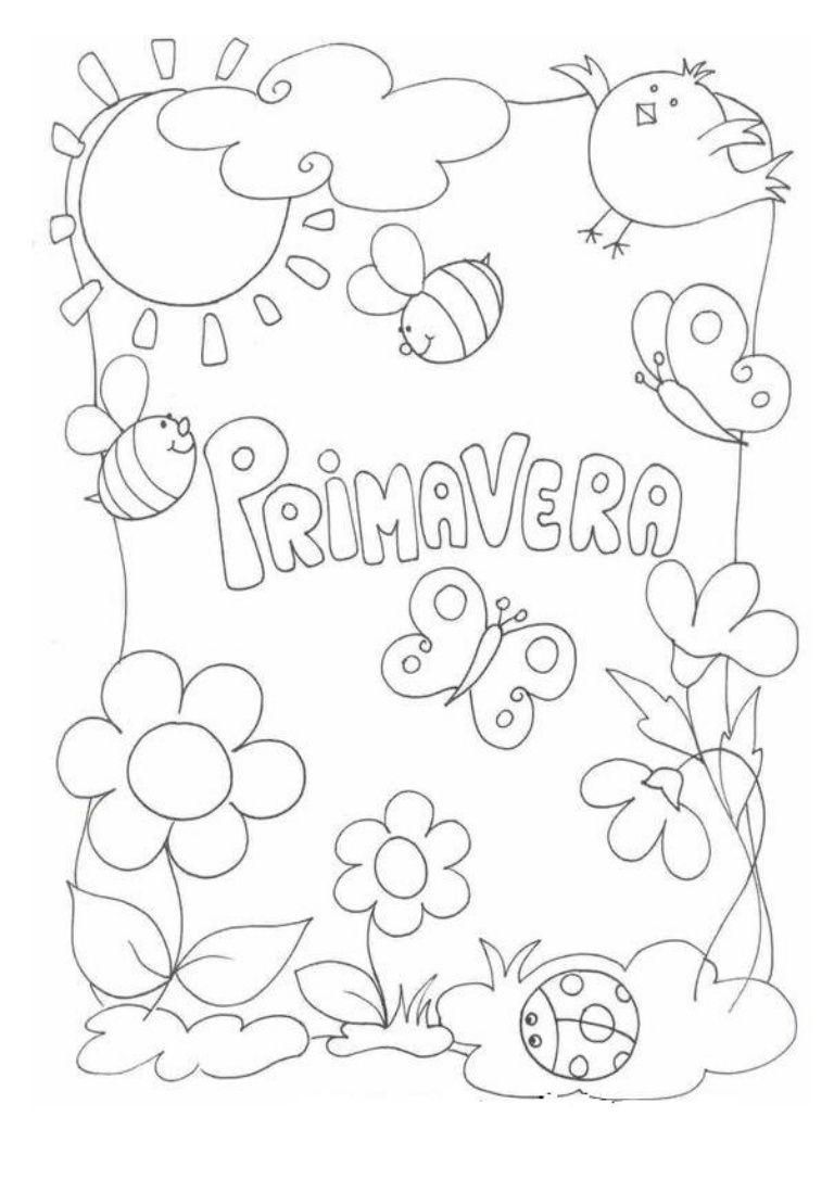 Capas Separadoras Da Primavera Para Pintar Dibujos