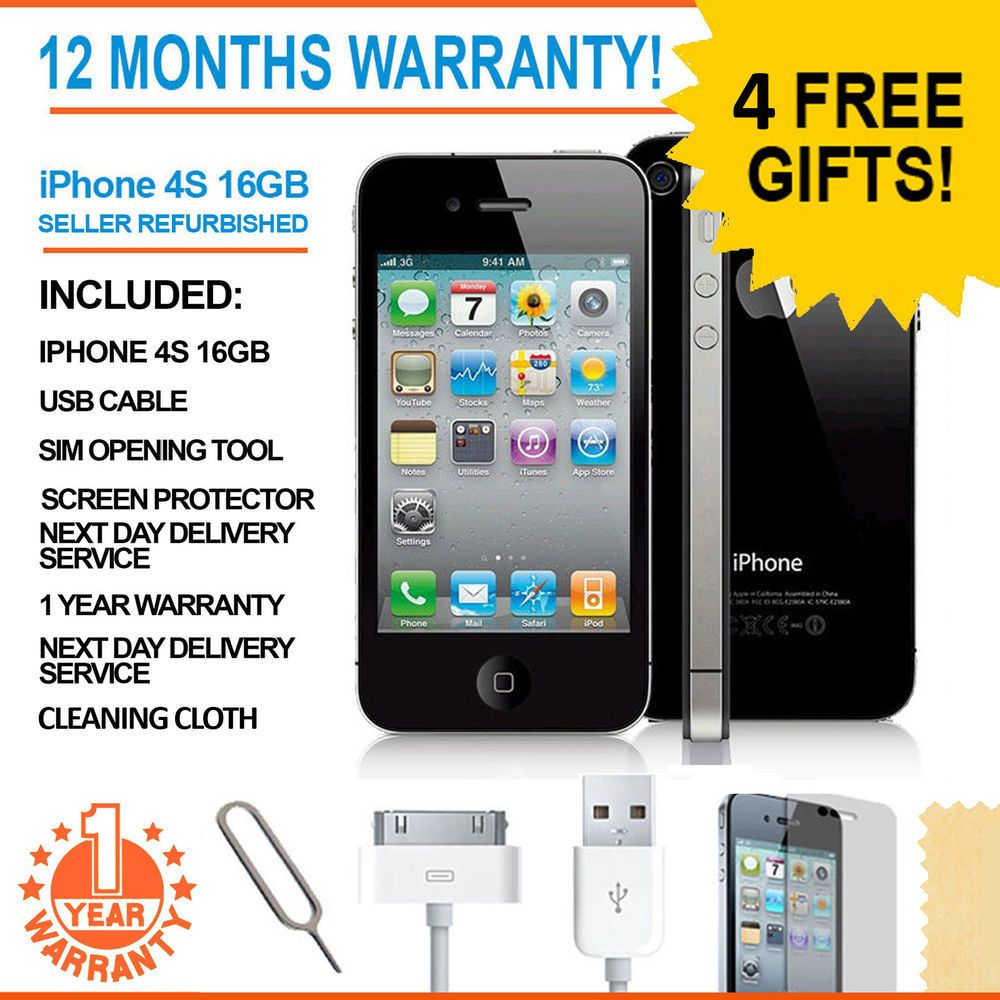 Apple Iphone 4s 16 Gb Black Unlocked Smartphone Apple Iphone 4s Apple Iphone 5s Iphone 4s