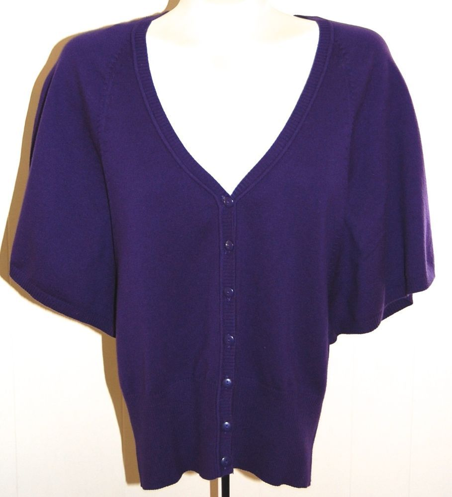 Details about The Limited Sweater M Purple Cardigan Shrug NWT ...
