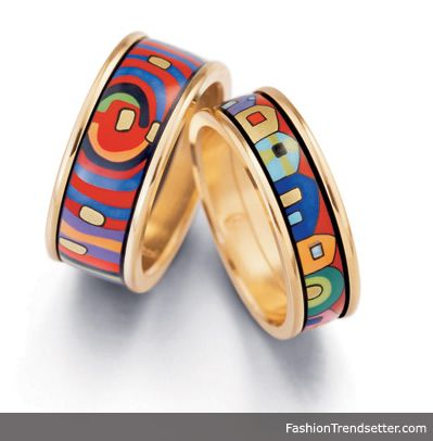 9b941a4e639 Hundertwasser design rings from Frey Wille. I have the ring on the right in  silver.  Hundertwasser  jewelry  rings  Vienna