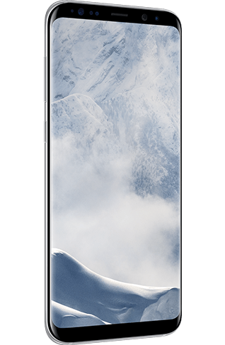 Angled Left View Of Galaxy S8 In Arctic Silver Samsung Galaxy Samsung Galaxy S8
