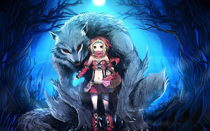 3d Wolf Anime Girl Hd Wallpaper For Android Fantasy Pinterest