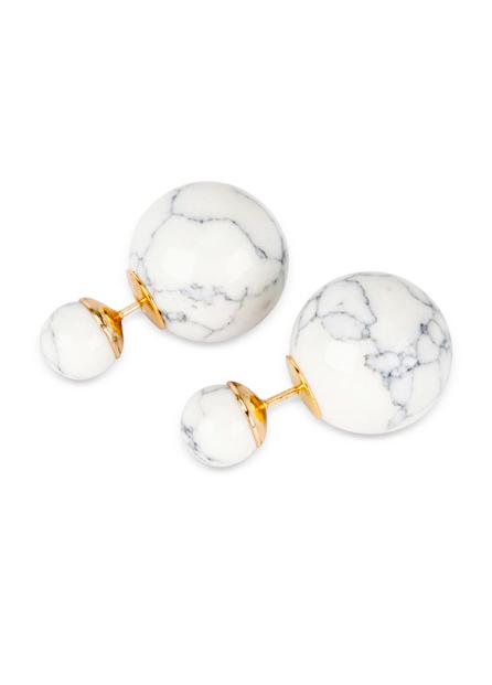Marble Stud Earrings Jewelry Accessories Jewelry Stud
