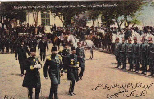 ottoman turkey mouhtar pasha et les deux nouveaux chambellans du sultan mehmed v