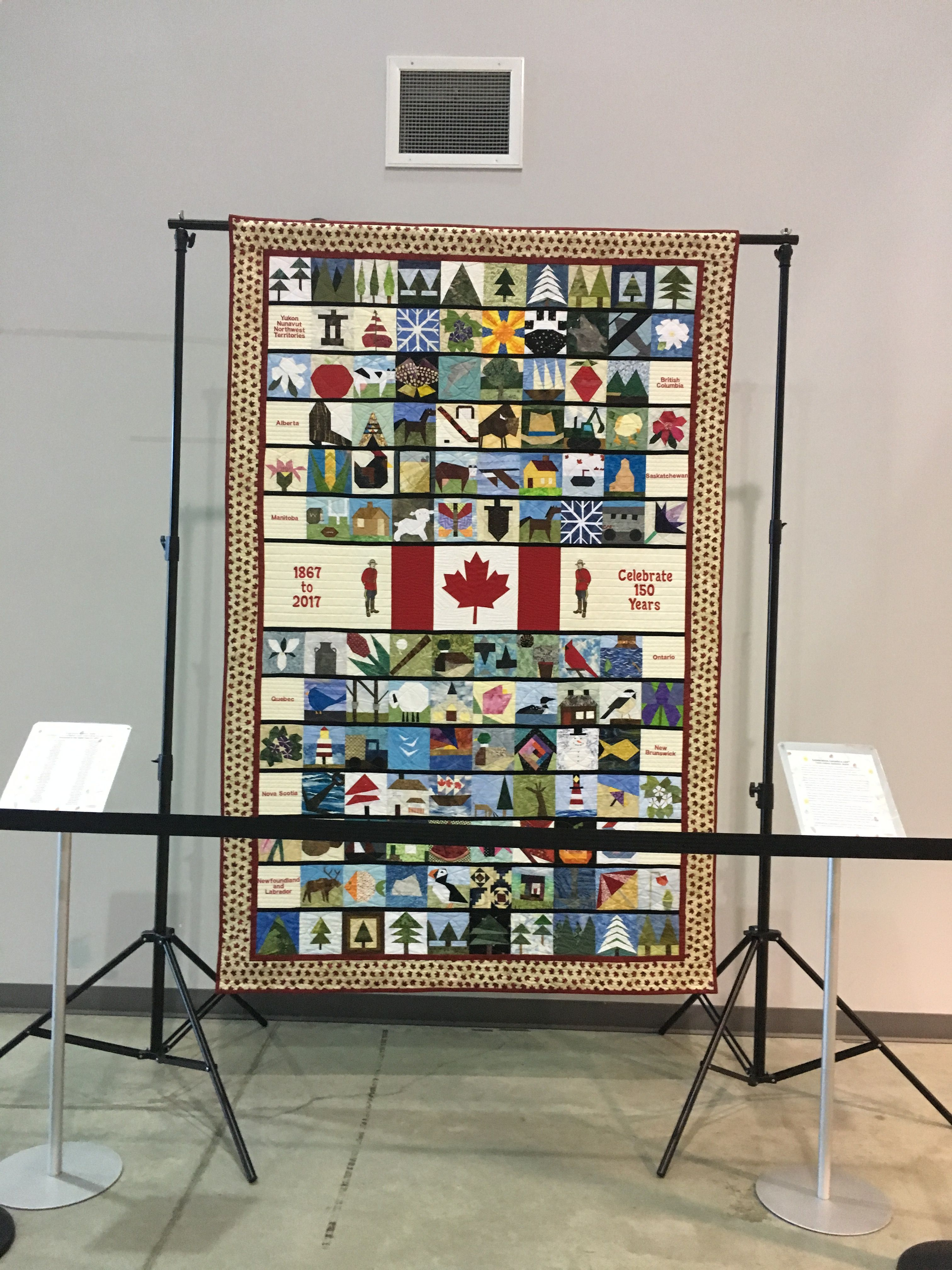 Canada 150 quilt CFB Trenton National Airforce Base of