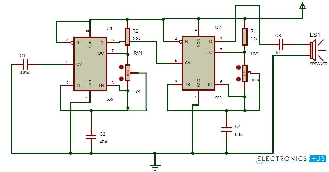44691d52a16e07c7c8987a32cceec043 ding dong sound generator door bell circuit using 555 timer ding Doorbell Wiring-Diagram Two Chimes at mifinder.co