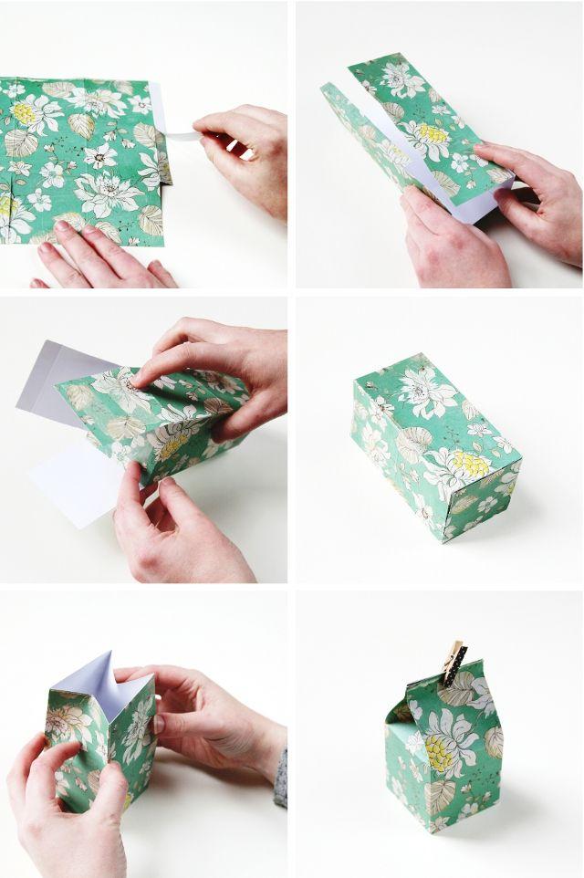 DIY MINI MILK CARTON GIFT BOXES. | Box, Minis and Gift