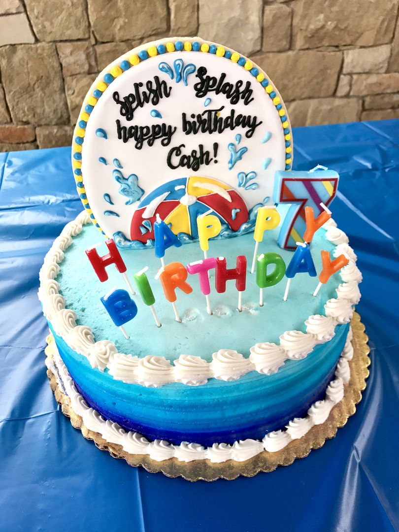 Beach Ball Cake Decorations Pool Party Cookie Cake Top Beach Ball Cake  Cakes Decorated With