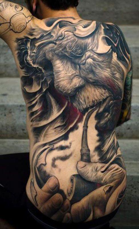 big tattoo, big tattoos, extreme tattoos, large tattoos, mr pilgrim ...
