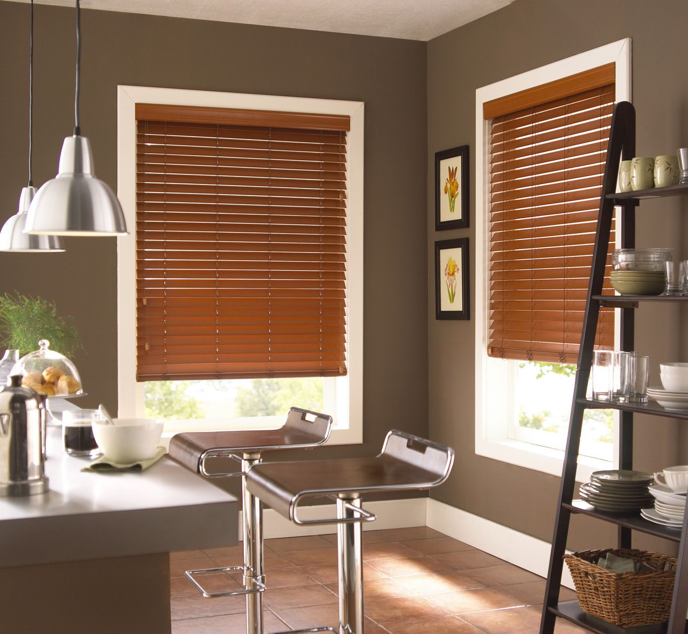 Faux Wood Blinds Are Great For The Kitchen Due To Their