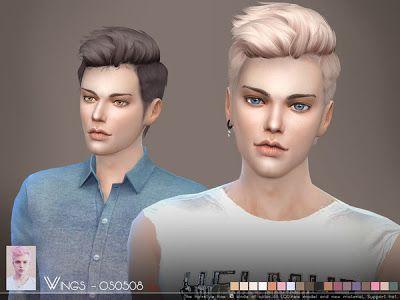The Sims 4 Mody: Męska fryzura w 18 kolorach od Wingssism