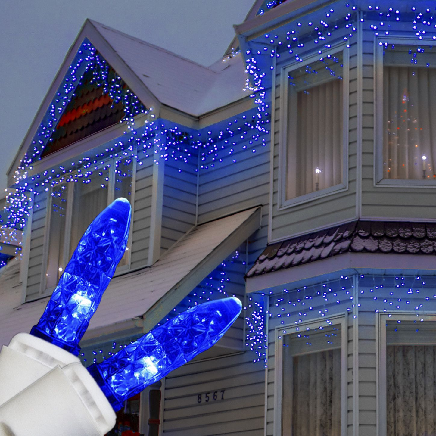 M5 Blue Led Icicle Lights Christmas Lights Etc Icicle Christmas Lights Blue Christmas Lights Halloween Lights